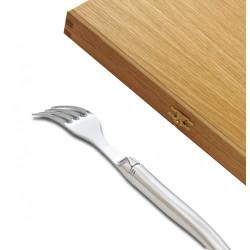 Coffret de 6 fourchettes Laguiole de table Gamme Prestige entièrement forgé avec une finition brillante