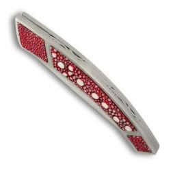 Couteau Thiers avec manche galuchat rouge