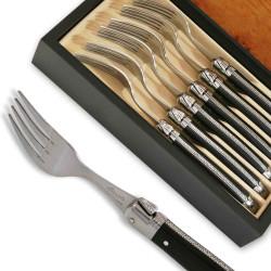 Coffret de 6 fourchettes Laguiole ABS luxe noire