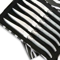 Coffret de 6 Couteaux à steak Laguiole ABS de couleur grise