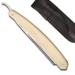 Rasoir Droit Le Bison 5/8 manche en Os