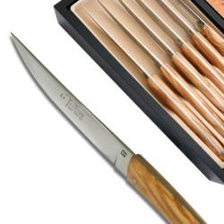 Set 6 Couteaux Thiers Bois d'Olivier