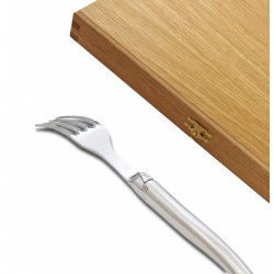 Prestige range Laguiole forks for dessert polished finish