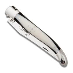 Couteau Laguiole avec un manche bi-matière ébène izmir