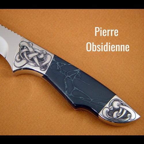 manche de couteau en pierre
